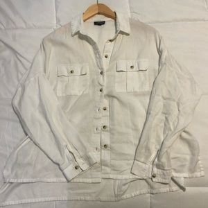 Topshop white button up! Great basic. Size 6
